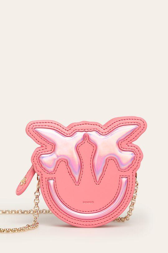 ružová Pinko - Kožená peňaženka Dámsky