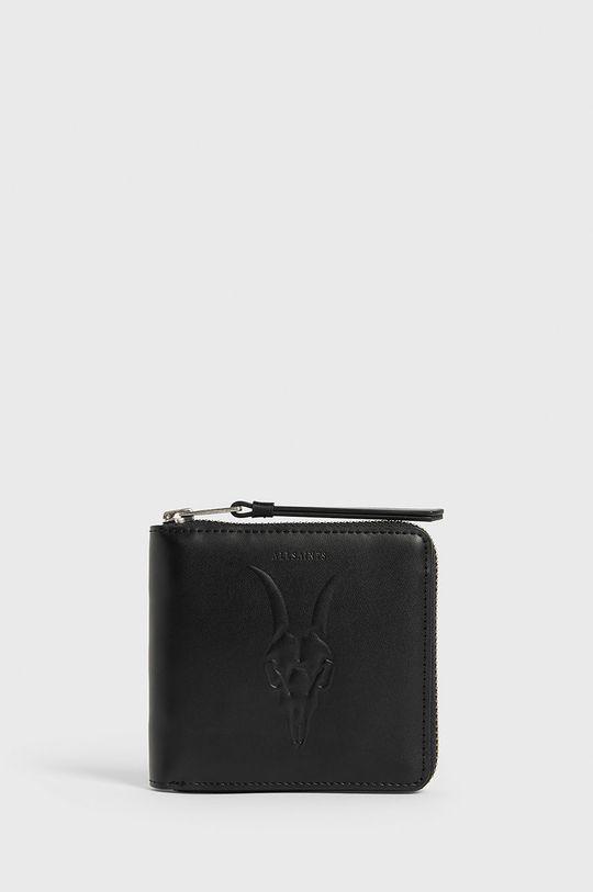 černá AllSaints - Kožená peněženka Dámský