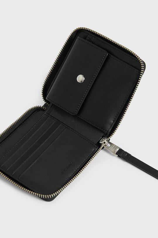 AllSaints - Kožená peněženka černá