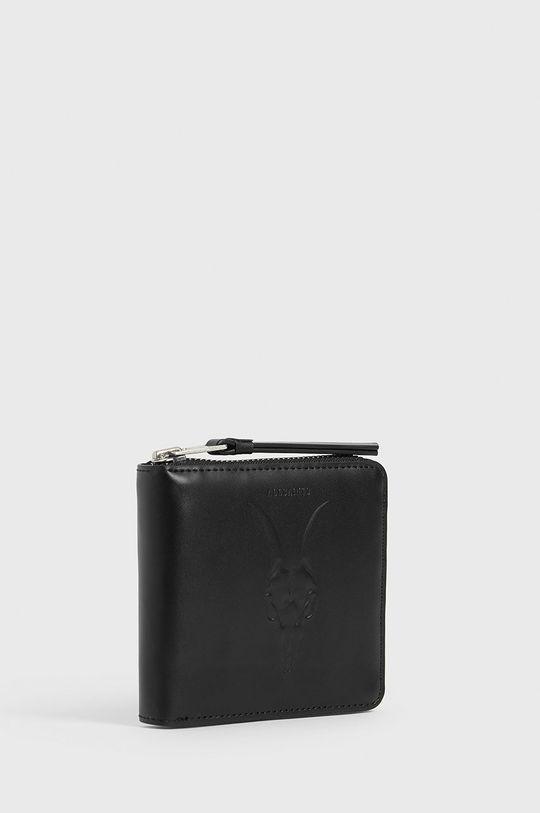 černá AllSaints - Kožená peněženka