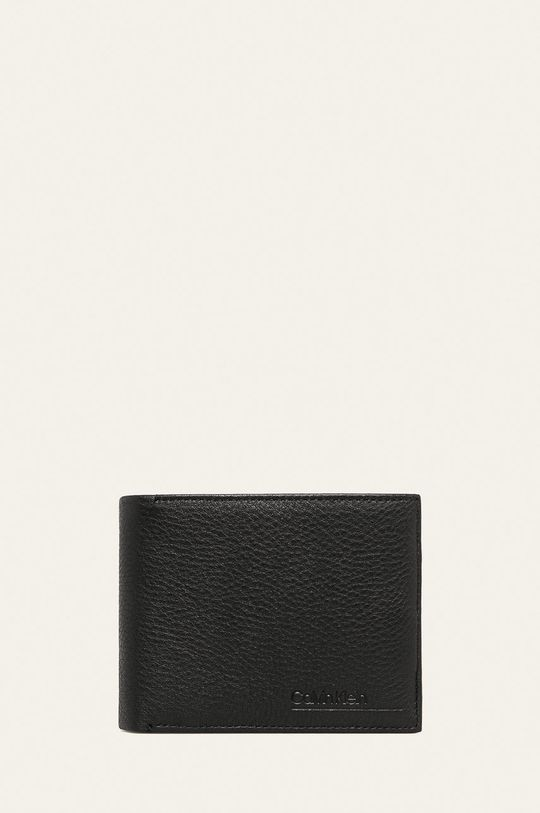 černá Calvin Klein - Kožená peněženka Pánský