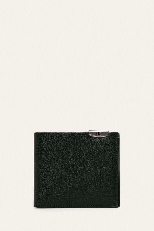 čierna Calvin Klein Jeans - Kožená peňaženka Pánsky