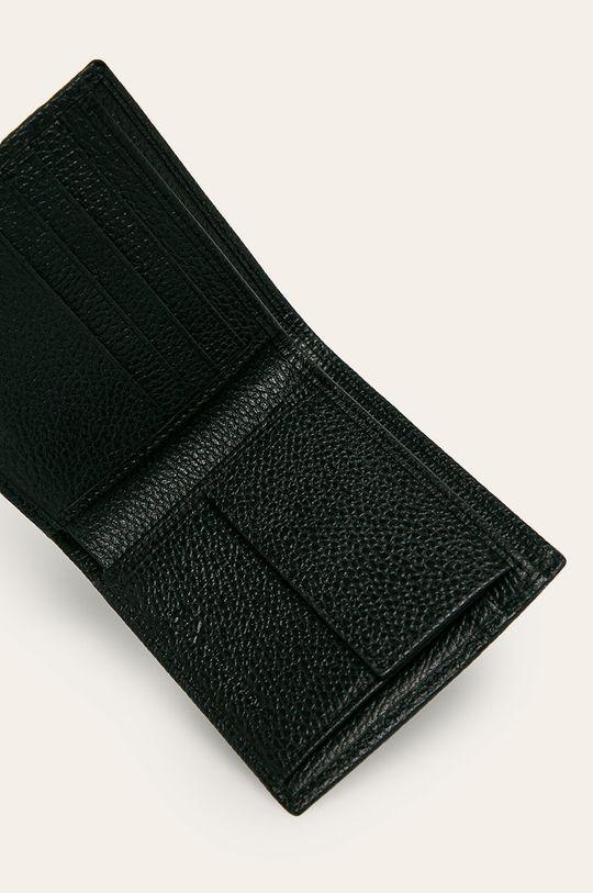 Armani Exchange - Kožená peněženka černá