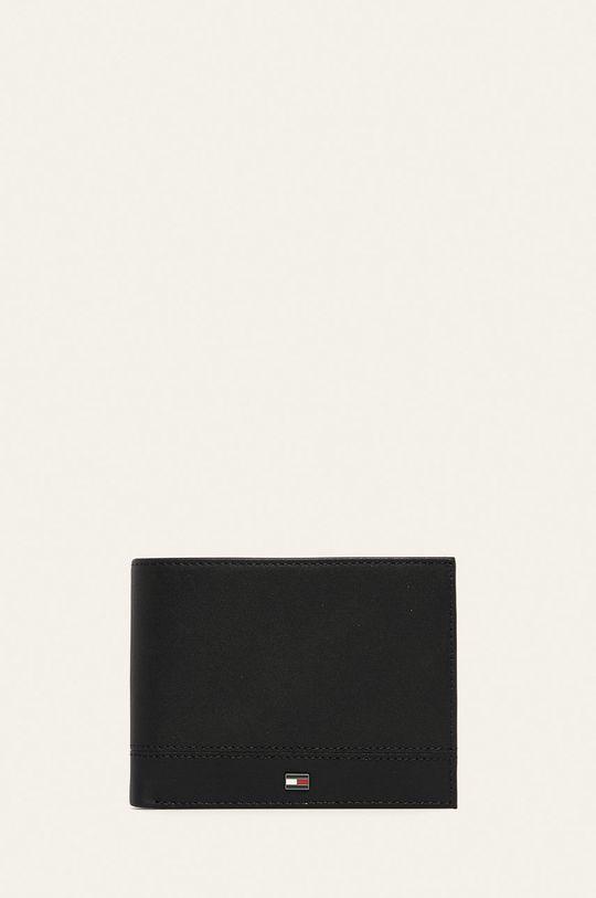negru Tommy Hilfiger - Portofel de piele De bărbați