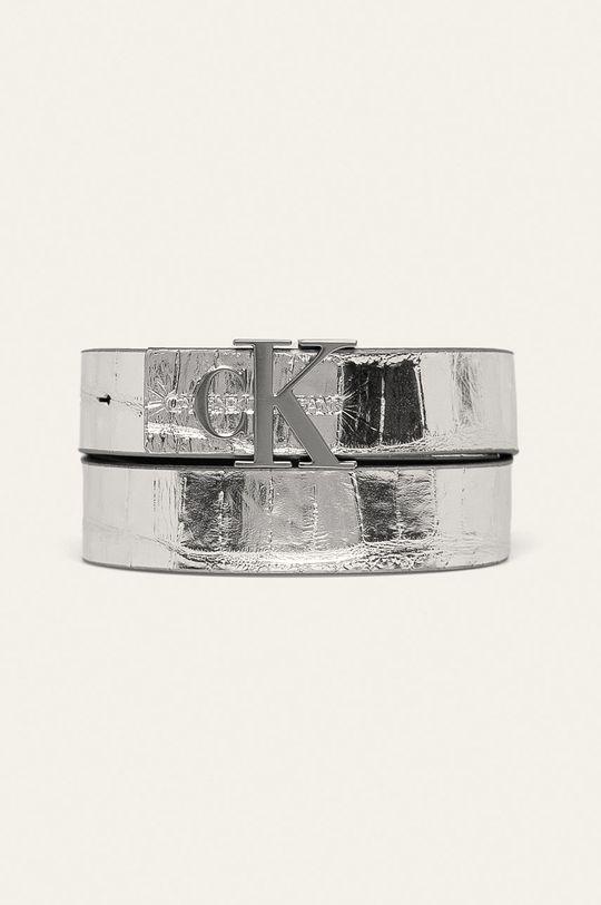 argintiu Calvin Klein Jeans - Curea de piele De femei