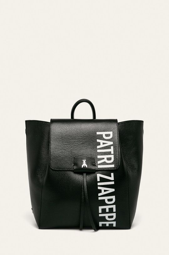 čierna Patrizia Pepe - Kožený ruksak Dámsky