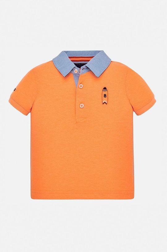 mandarínková Mayoral - Detské polo tričko 68-98 cm Chlapčenský