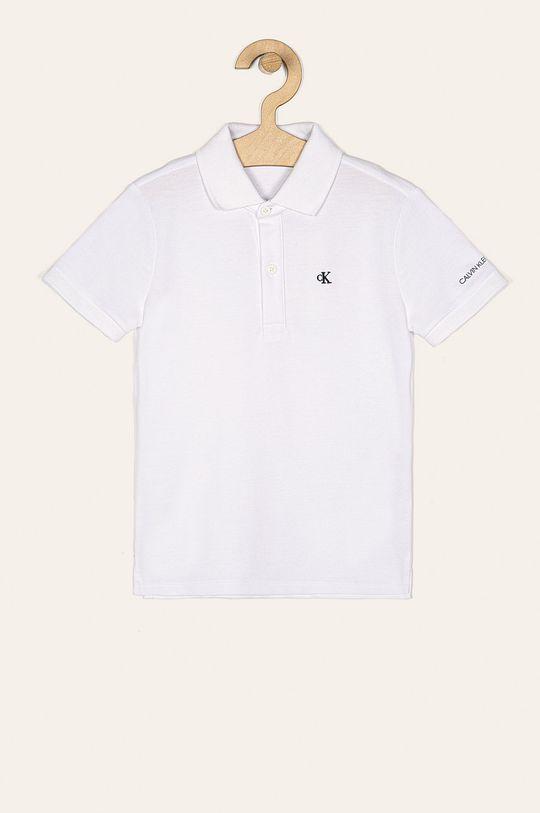biela Calvin Klein Jeans - Detské polo tričko 104-176 cm Chlapčenský