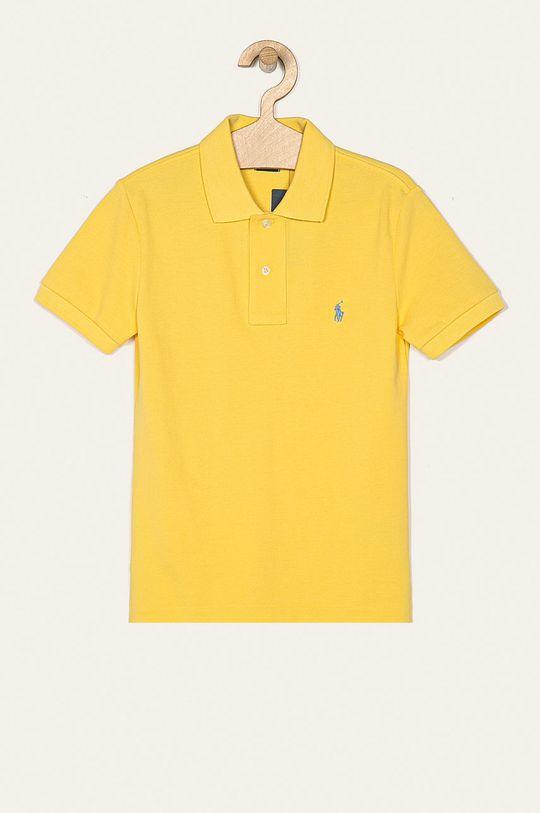 svetložltá Polo Ralph Lauren - Detské polo tričko 134-176 cm Chlapčenský