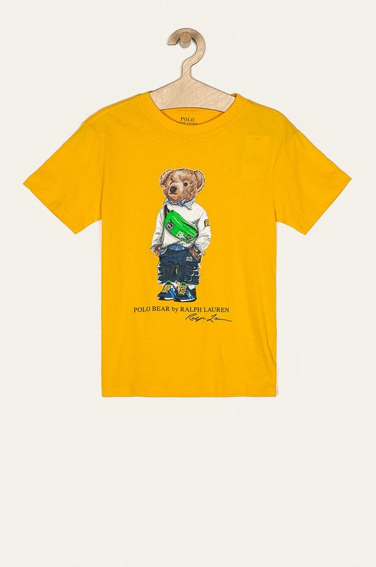 hořčicová Polo Ralph Lauren - Dětské tričko 134-176 cm Chlapecký