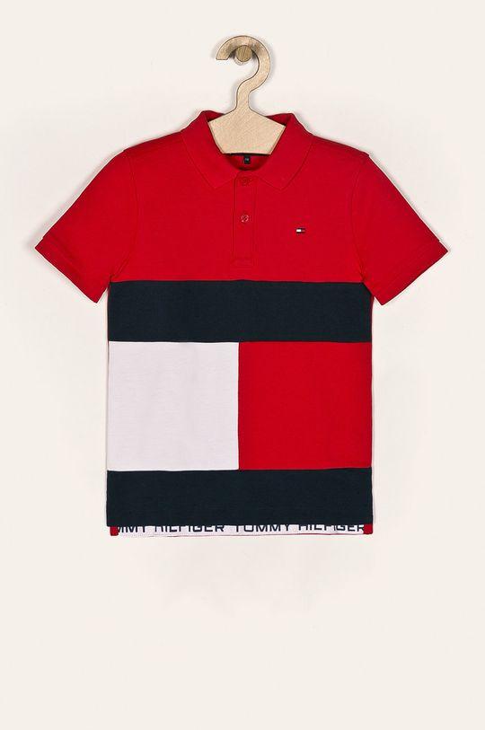 czerwony Tommy Hilfiger - Polo dziecięce 128-176 cm Chłopięcy