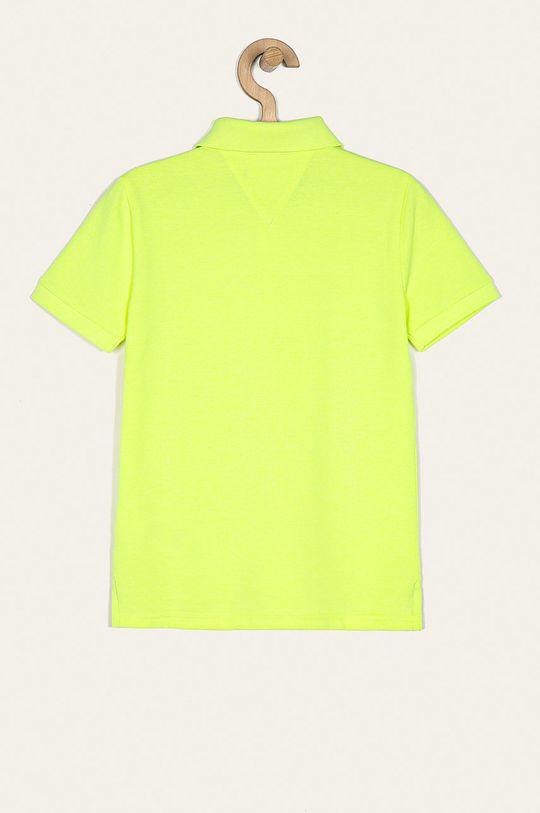 Tommy Hilfiger - Tricou polo copii 128-176 cm galben deschis
