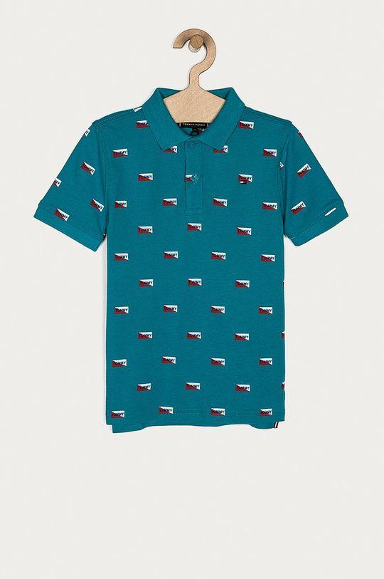 tyrkysová Tommy Hilfiger - Detské polo tričko 128-176 cm Chlapčenský