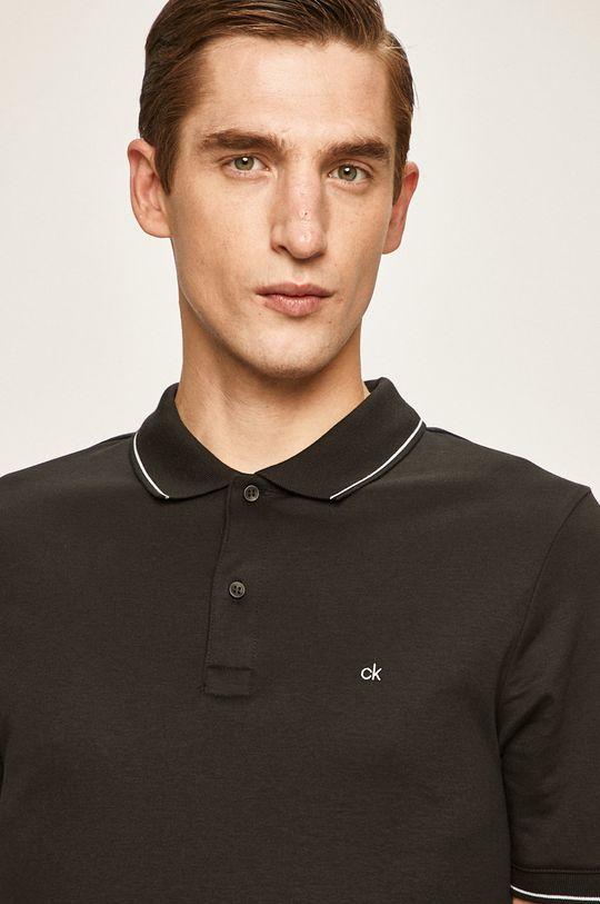 černá Calvin Klein - Polo tričko