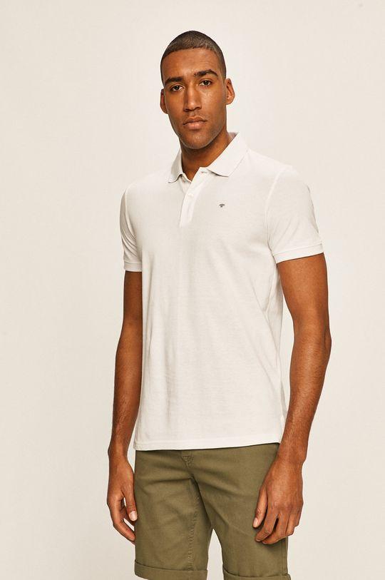 biela Tom Tailor Denim - Pánske polo tričko Pánsky