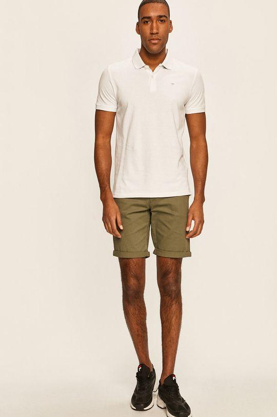 Tom Tailor Denim - Pánske polo tričko biela