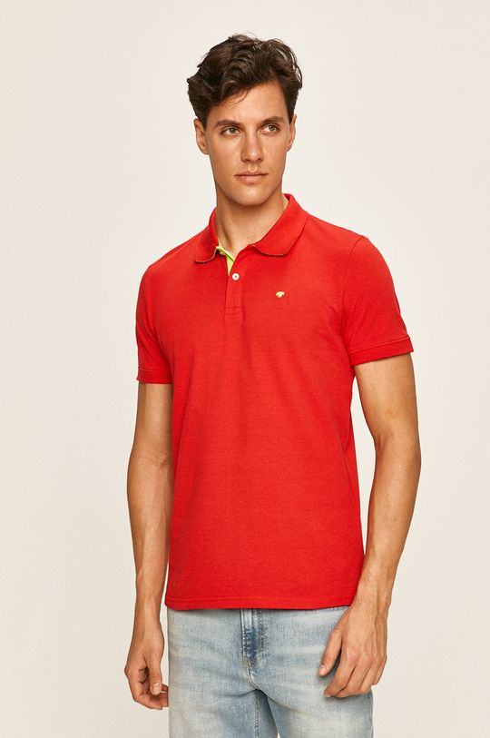 červená Tom Tailor Denim - Polo tričko Pánský