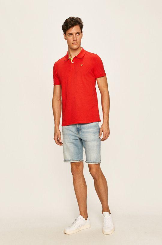 Tom Tailor Denim - Polo tričko červená