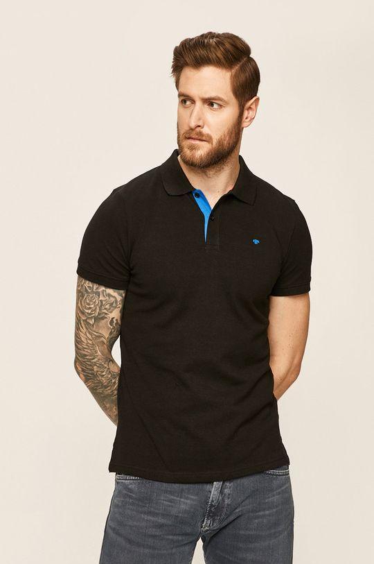černá Tom Tailor Denim - Polo tričko Pánský