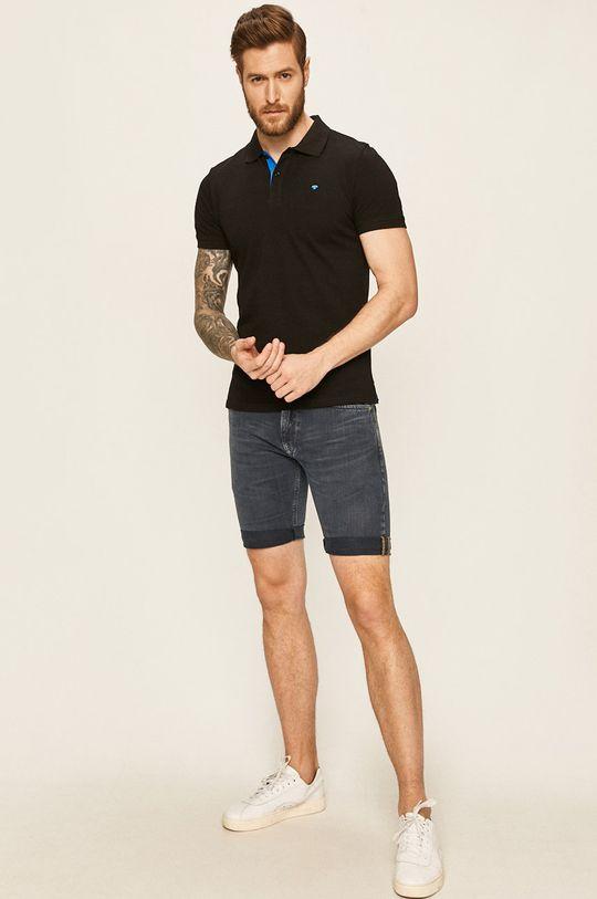 Tom Tailor Denim - Polo tričko černá