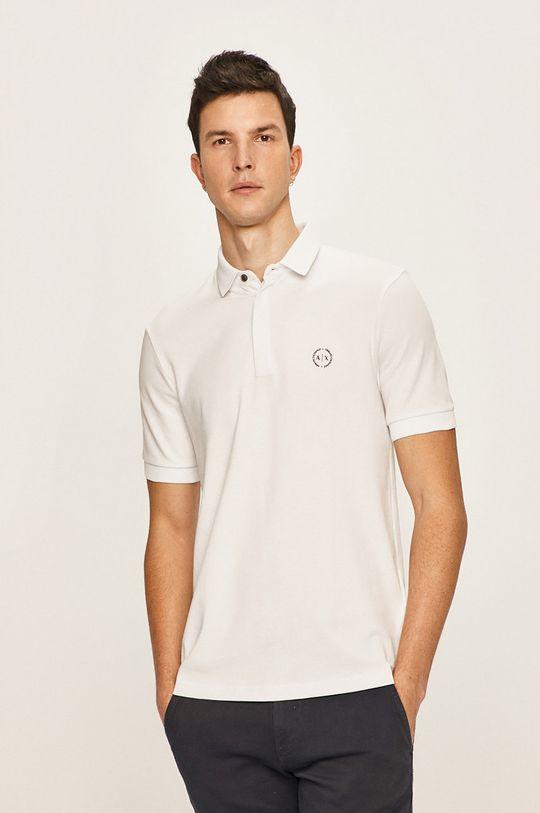 bílá Armani Exchange - Polo tričko Pánský