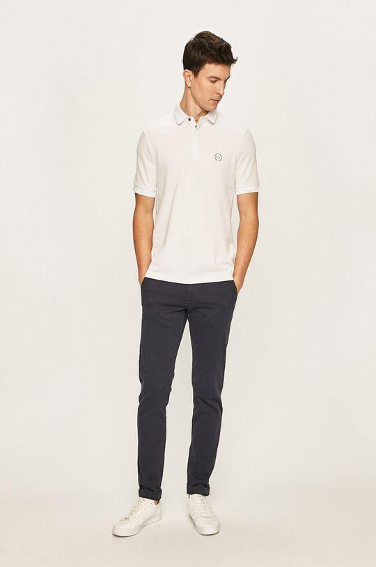 Armani Exchange - Polo tričko bílá