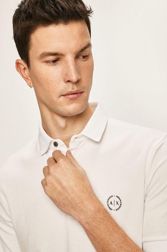 bílá Armani Exchange - Polo tričko