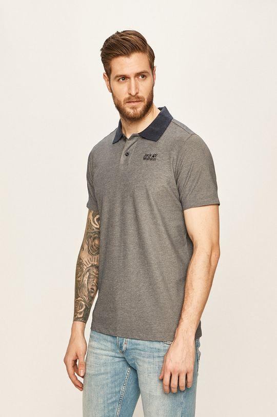 námořnická modř Jack Wolfskin - Polo tričko Pánský