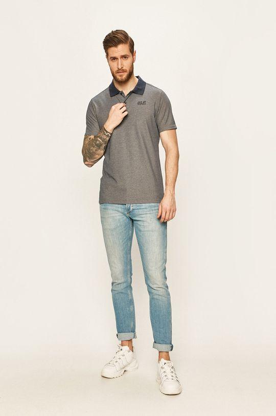 Jack Wolfskin - Polo tričko námořnická modř