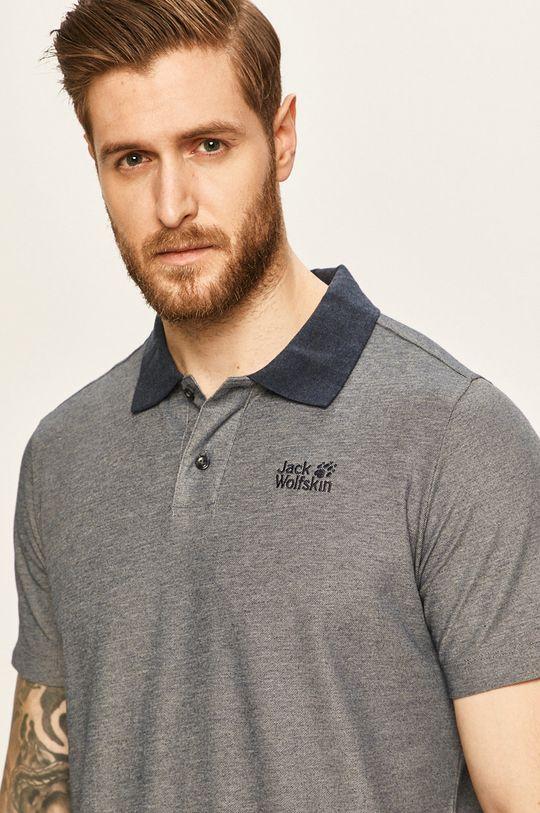 námořnická modř Jack Wolfskin - Polo tričko