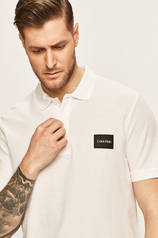 bílá Calvin Klein - Polo tričko Pánský