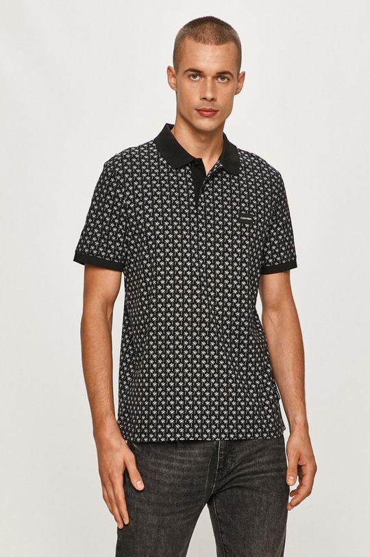 negru Calvin Klein - Tricou Polo De bărbați