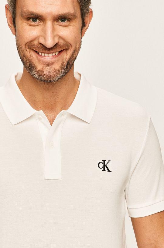 biały Calvin Klein Jeans - Polo