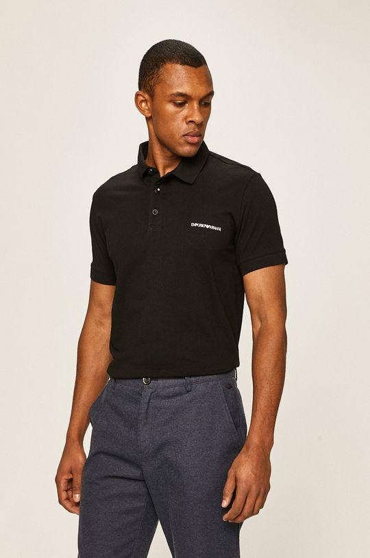 negru Emporio Armani - Tricou Polo De bărbați