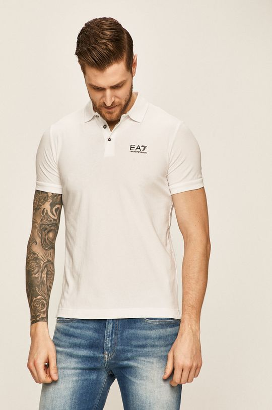 bílá EA7 Emporio Armani - Polo tričko
