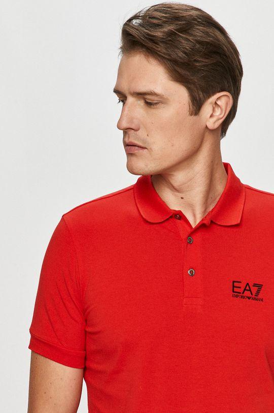 czerwony EA7 Emporio Armani - Polo