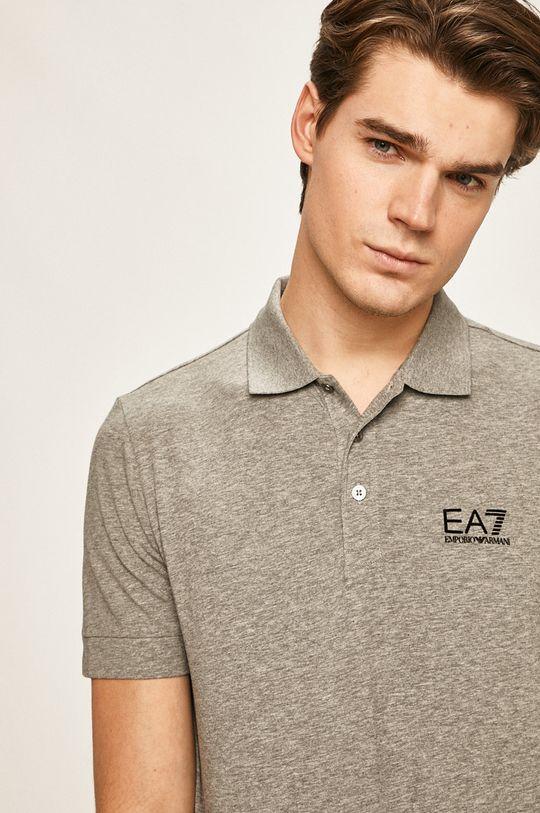 šedá EA7 Emporio Armani - Polo tričko Pánský