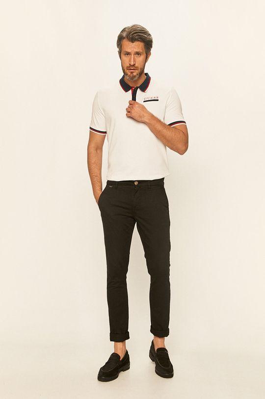 Guess Jeans - Polo tričko bílá