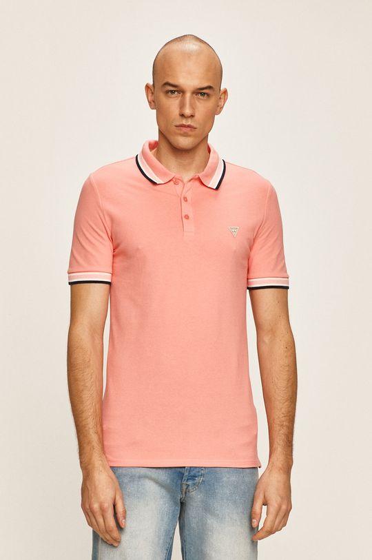 coral Guess Jeans - Tricou Polo De bărbați