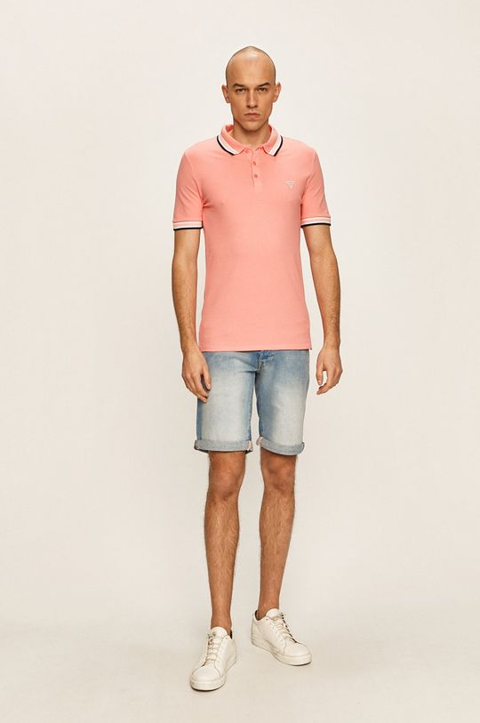 Guess Jeans - Tricou Polo coral