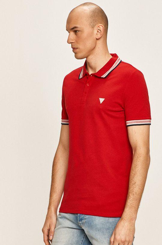 červená Guess Jeans - Polo tričko