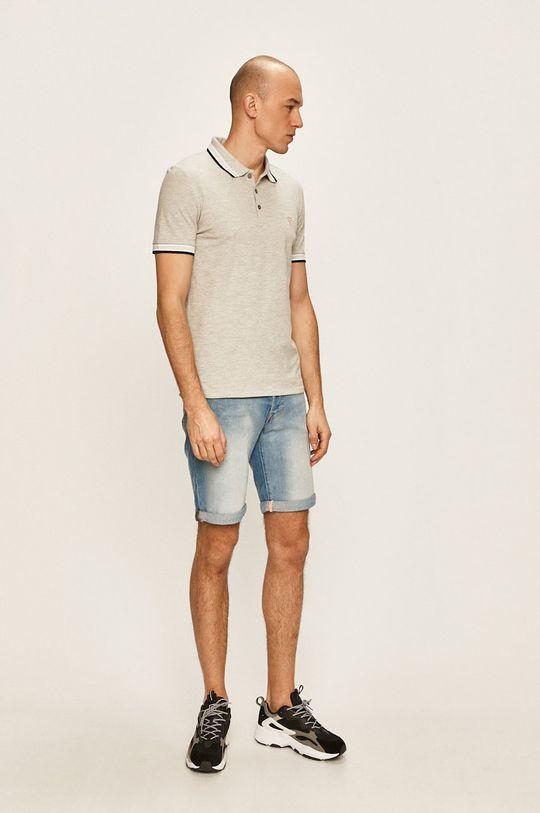 Guess Jeans - Tricou Polo gri