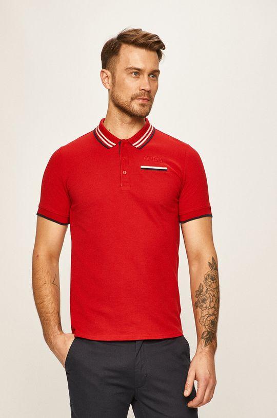 červená Guess Jeans - Pánske polo tričko Pánsky