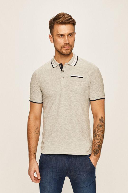 sivá Guess Jeans - Pánske polo tričko Pánsky