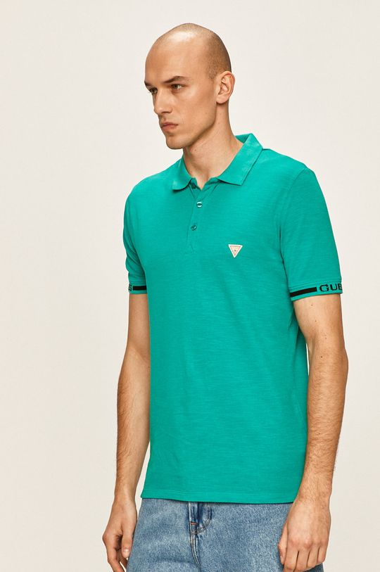 verde Guess Jeans - Tricou polo De bărbați