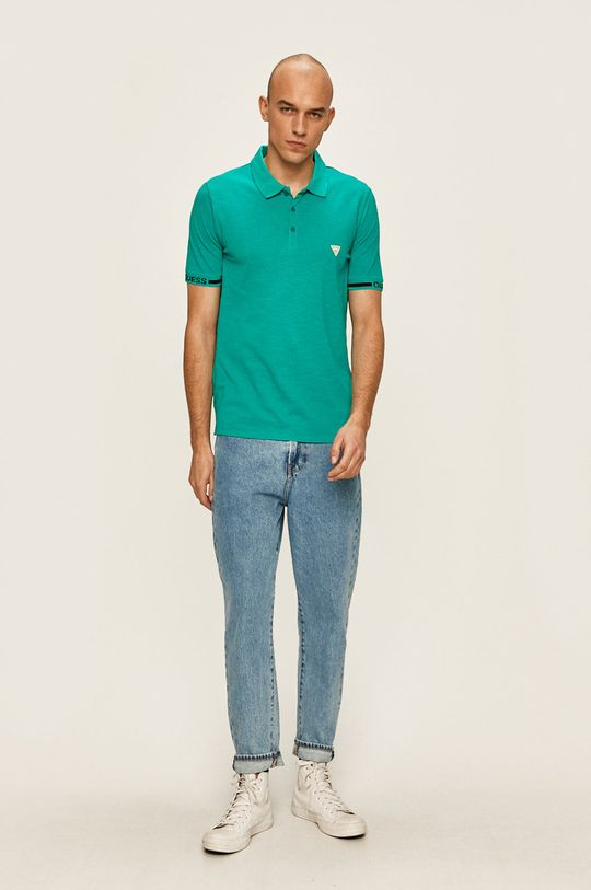 Guess Jeans - Tricou polo verde