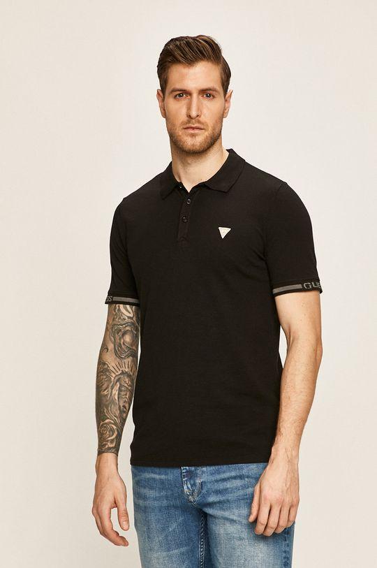 negru Guess Jeans - Tricou polo De bărbați