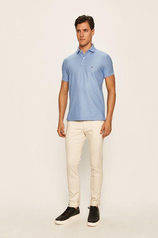 Tommy Hilfiger - Tricou polo albastru deschis