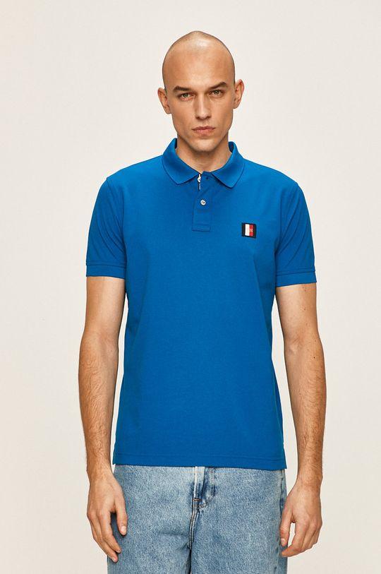 modrá Tommy Hilfiger - Polo tričko Pánský