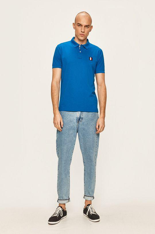 Tommy Hilfiger - Tricou polo albastru